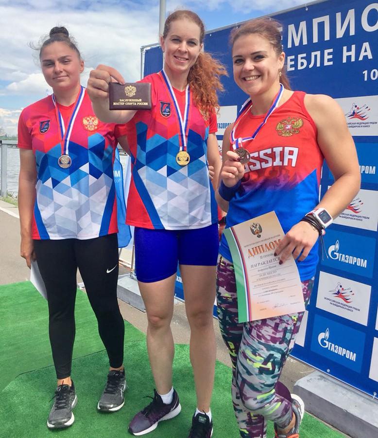 Сегодня на гребном канале Крылатское звание Заслуженного Мастера Спорта России получила Олеся Ромасенко!Поздравляем Олесю и желаем дальнейших успехов в спорте!