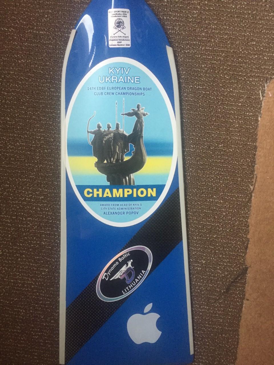 Здравствуйте, продам весло для гребли на драгонботе, весло с чемпионата Европы 2011 года
