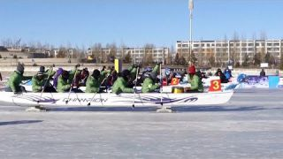 World's first 'ice dragon boat' championship opens in North China
