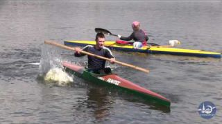 Bamboo paddling - kayak training